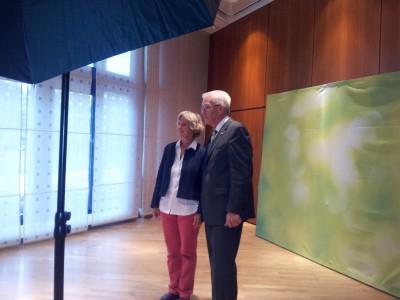 Bild: LDK Pforzheim 2015-10-10 v.l. Andrea Bogner-Unden, Winfried Kretschmann
