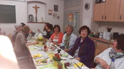 Landtagskandidatin Andrea Bogner-Unden und Gerlinde Kretschmann beim Frauenfrühstück in Herdwangen (2016-03-05)