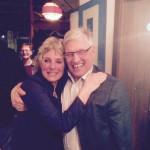 Andrea Bogner-Unden (links) mit Zweitkandidat Klaus Harter auf der Wahlparty (Foto: Karl Boos)