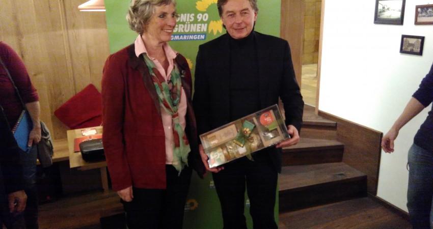 Landtagskandidatin Andrea Bogner-Unden, MdL Siegfried Lehmann (Foto: Michael Köberle)