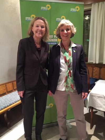 Sylvia Kotting-Uhl (links) und Andrea Bogner-Unden (rechts)