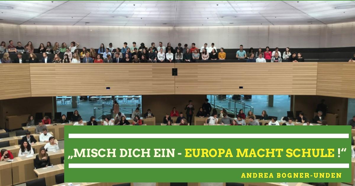 """""""Misch Dich ein – Europa macht Schule"""" im Landtag"""