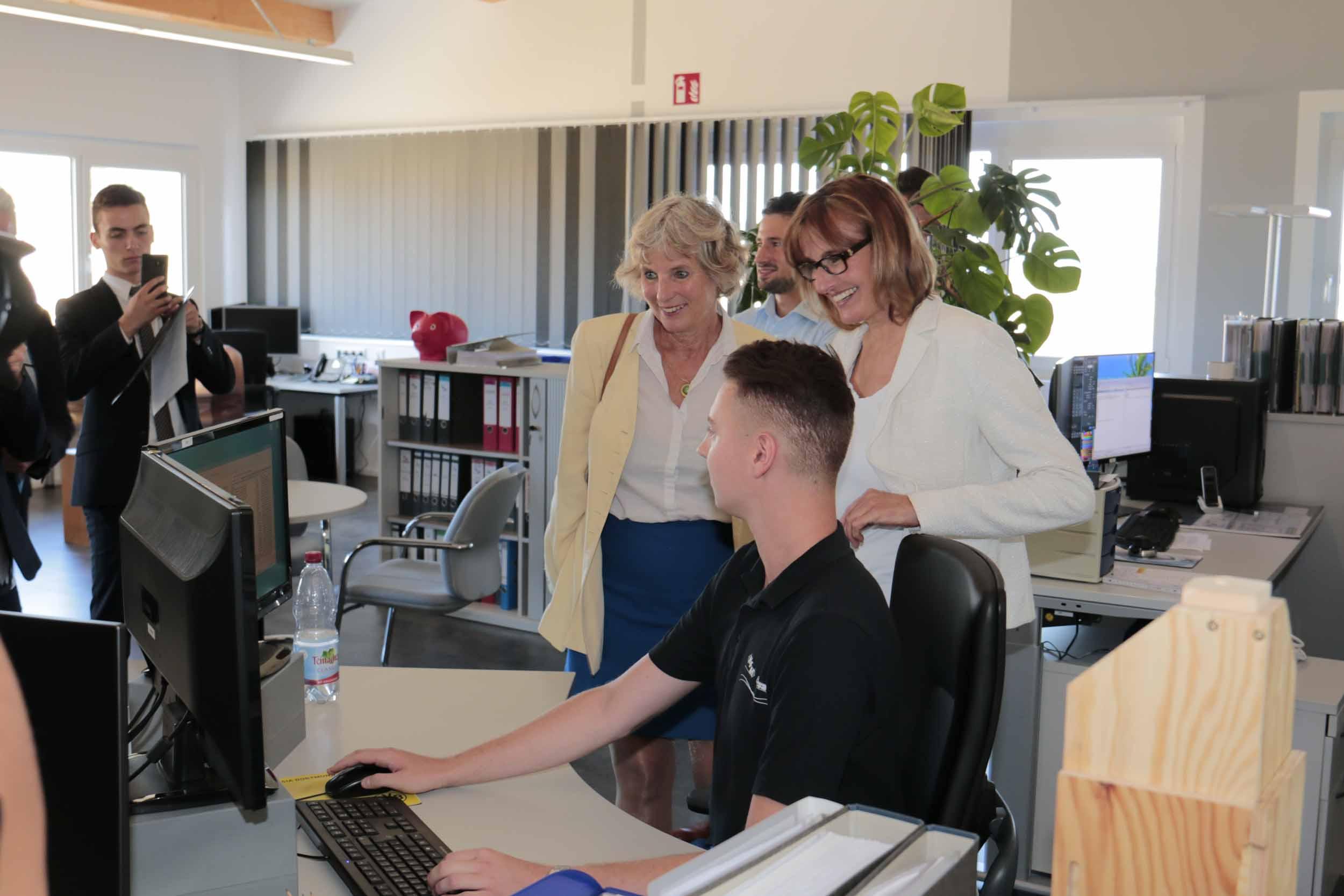 Besuch der Firma HFM in Ostrach-Kalkreute