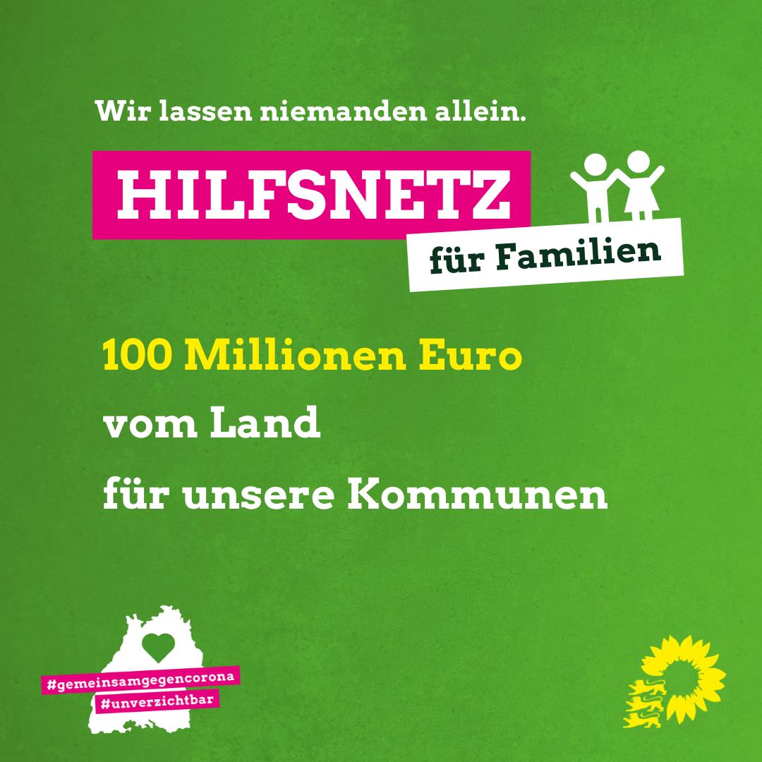 """""""Land und Kommunen schaffen Hilfsnetz für Familien – 100 Millionen Euro kommen sofort vom Land"""""""