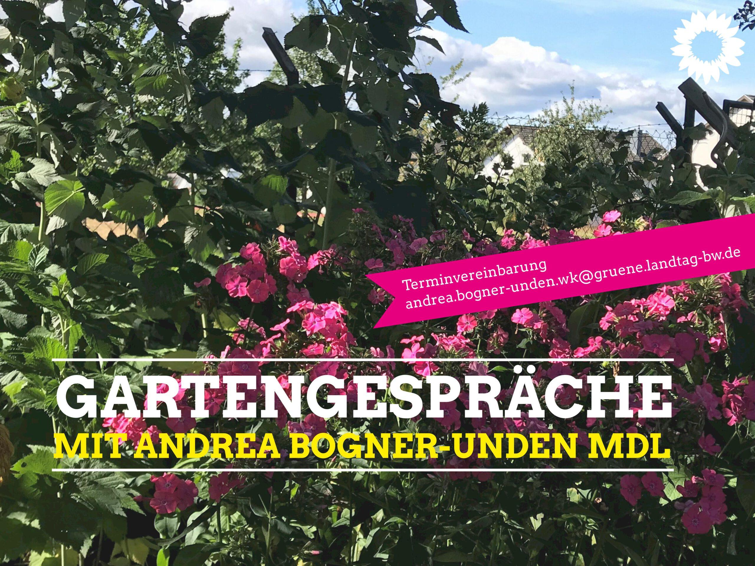 Gartengespräche mit Andrea Bogner-Unden MdL