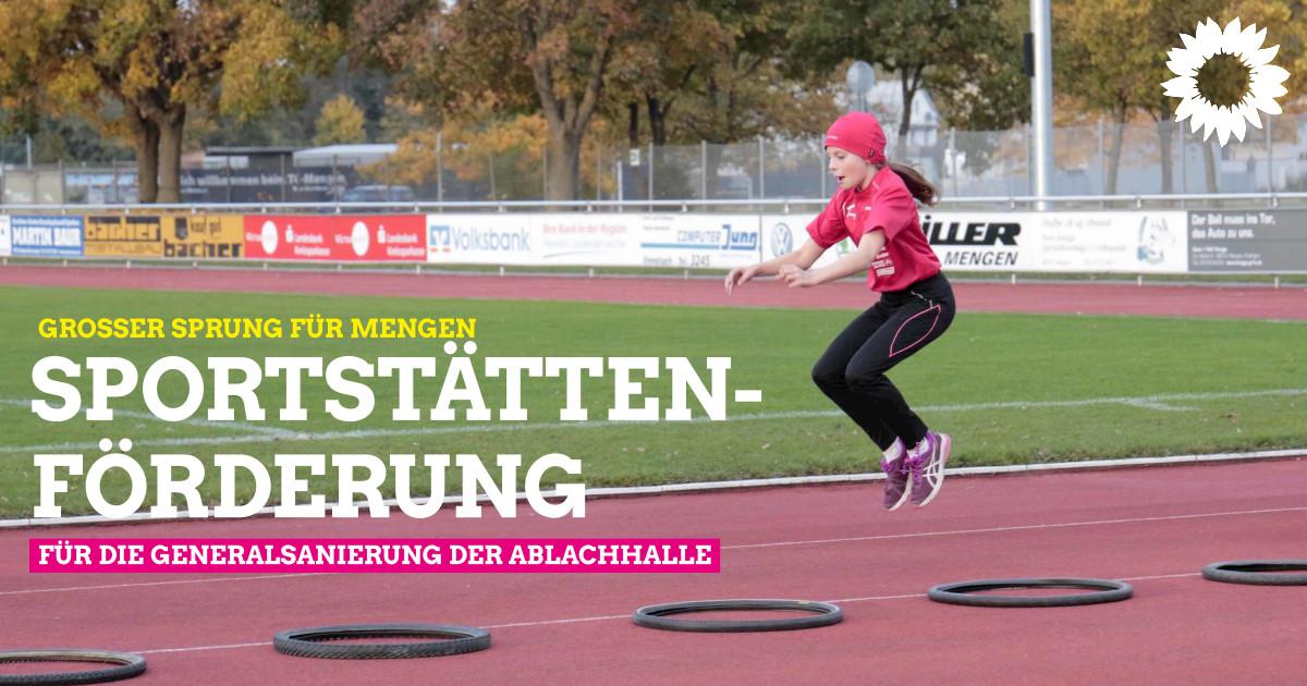 Mengen erhält 1,4 Mio. Euro Sportstättenförderung für Generalsanierung der Ablachhalle