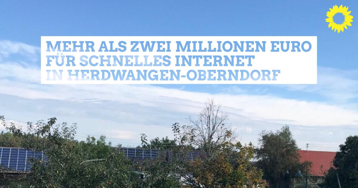Mehr als zwei Millionen Euro für schnelles Internet in Herdwangen-Schönach