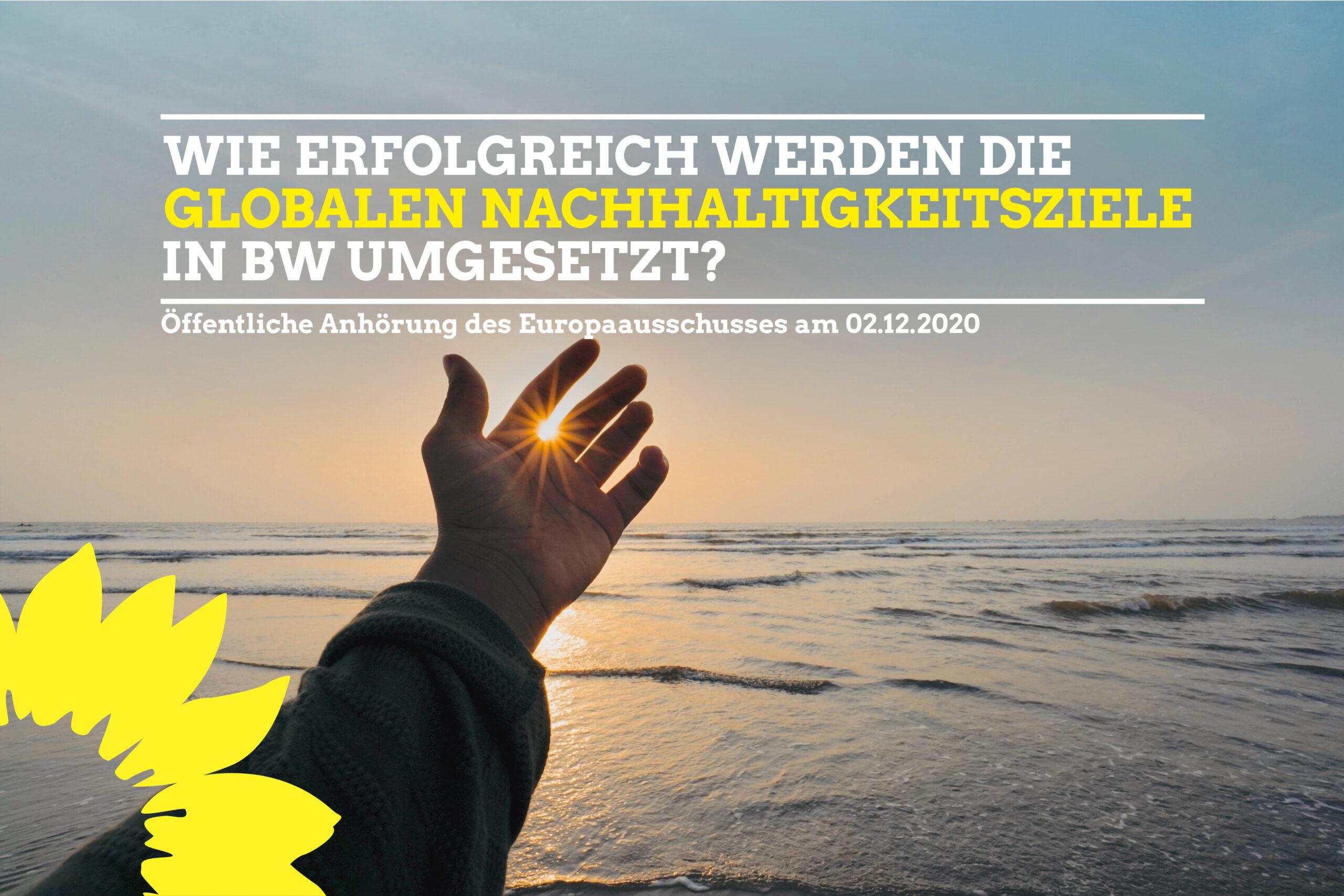 Öffentliche Anhörung des Europaausschusses zur Umsetzung der Agenda 2030 in Baden-Württemberg