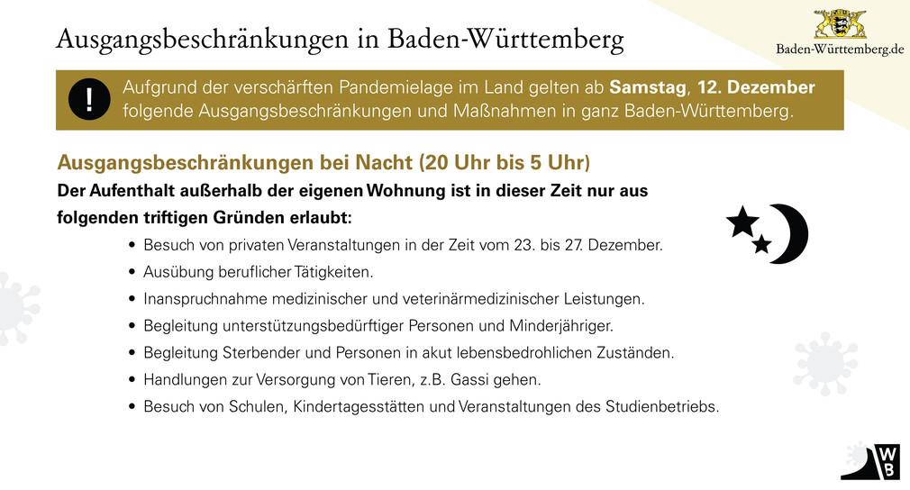 Baden-Württemberg erlässt landesweite Ausgangsbeschränkungen