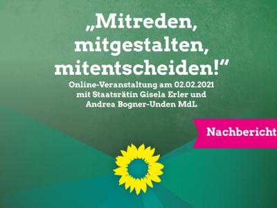 """Staatsrätin Gisela Erler zur """"Politik des Gehörtwerdens"""""""