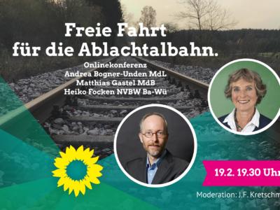 Freie Fahrt für die Ablachtalbahn – Onlinediskussion am 19. Februar 2021 19:30 Uhr