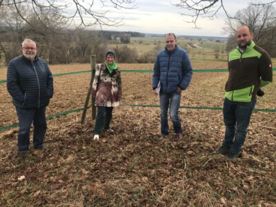 Andrea Bogner-Unden MdL informiert sich in Bad Saulgau zur Verlegung einer Spielbahn des Golfplatzes
