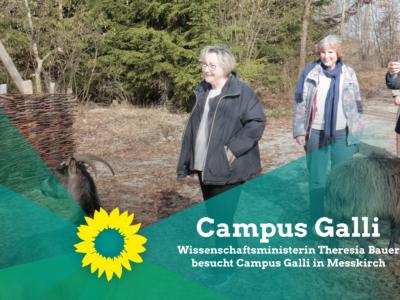 Wissenschaftsministerin Theresia Bauer besucht Campus Galli