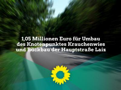 1,05 Mio Euro für Umbau des Knotenpunktes Krauchenwies und Rückbau der Hauptstraße Laiz