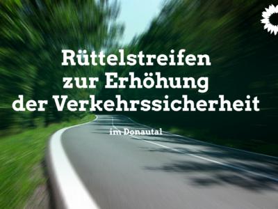 Rüttelstreifen für Motorradfahrer im Donautal
